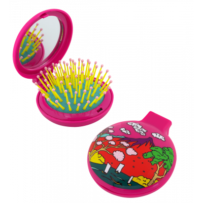 2 in 1 hairbrush and mirror - Lady Retro - Estampe