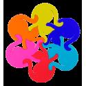 Heatproof mat - Entrechats Multicolor