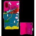 Coque à clapet pour iPhone X - I Wallet X Estampe