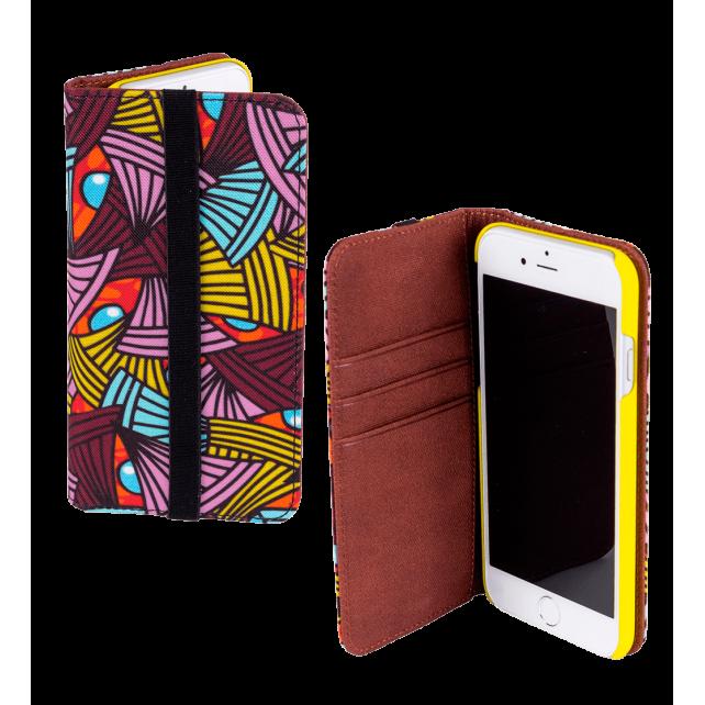 Iwallet - Coque à clapet pour iPhone 6, 6S African Spirit