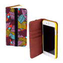 Flap cover/wallet case for iPhone 6, 6S, 7 - Iwallet 2 Skull 3