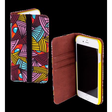 Klappdeckel für iPhone 6, 6S, 7 - Iwallet2 Coquelicots