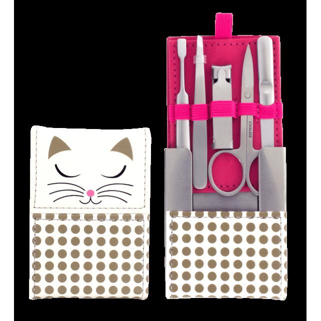Manu - Kit di manicure White Cat