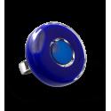 Glasring - Duo Medium Blau Lagune