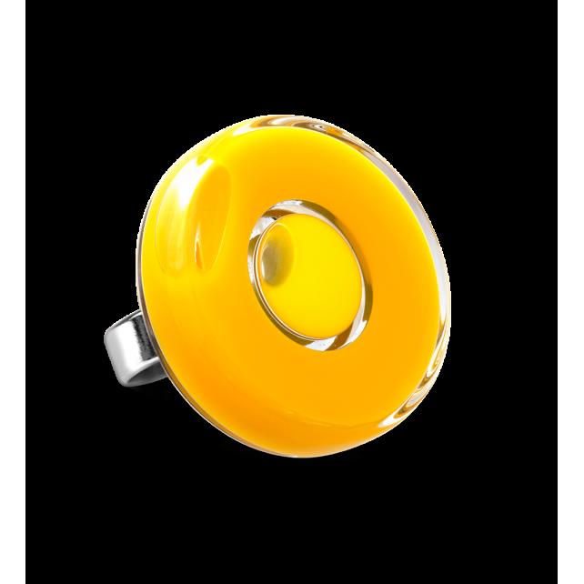 Glasring - Duo Medium Gelb