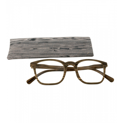 Glasses - Bois Carré - Dark brown