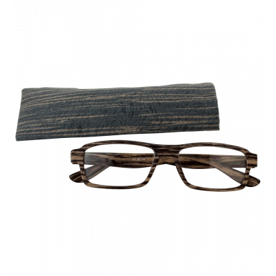 Corrective lenses - Bois Rectangle - Dark brown