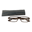 Korrekturbrille - Bois Rectangle - Dunkelbraun