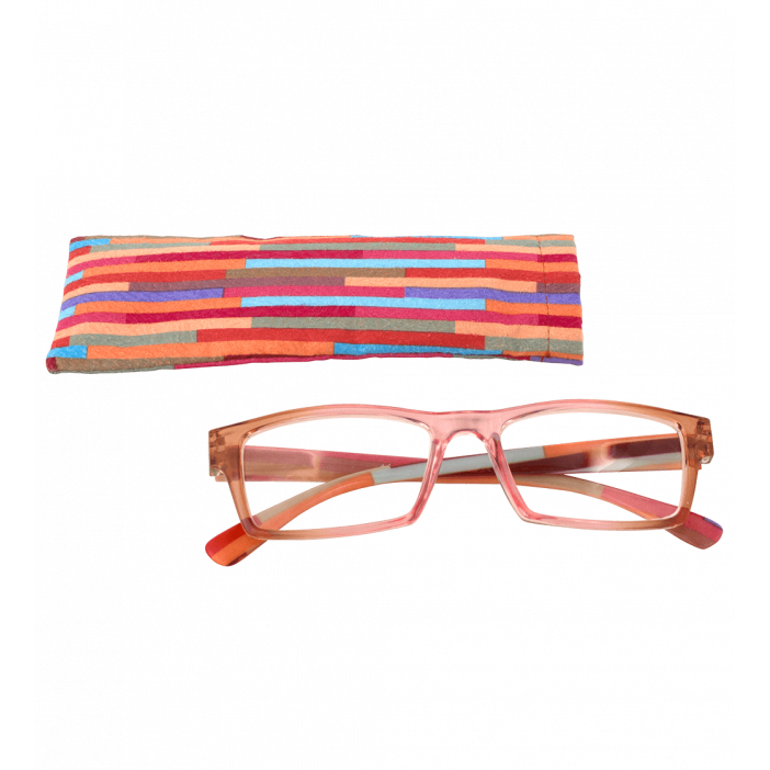 Korrekturbrille - Multicolor - Rosa/Orange 150