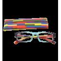 Korrekturbrille - Multicolor - Türkis/Lila