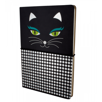 A5 double notebook - Smart note - Black Cat
