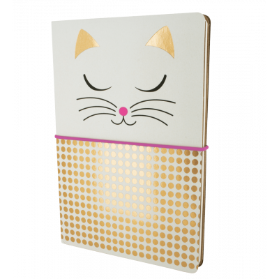 A5 double notebook - Smart note - White Cat