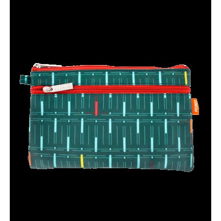 Täschchen mit 2 Reißverschlüssen - Zip Pouch