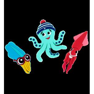 3er-Set Magnete - Magnet Octopus