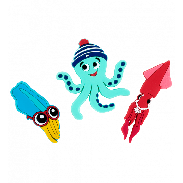 Set of 2 magnets - Magnet Octopus Happy Lopodes