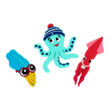 Set of 3 magnets - Magnet Octopus
