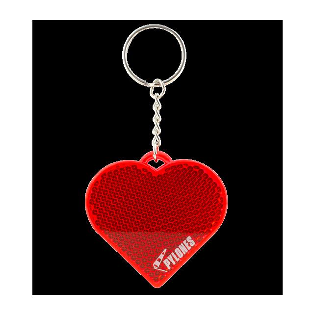 Flashy - Porte-clé réfléchissant Cœur