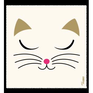 Tissu microfibre pour lunettes - Belle Vue - White Cat