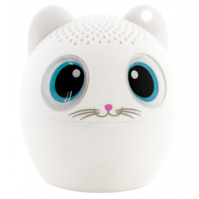 Mini enceinte bluetooth - Sing song - Chat blanc