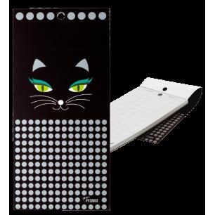 Bloc note magnétique - Carnet Formalist - Black Cat
