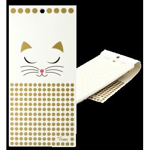 Magnetischer Notizblock - Heft Formalist - White Cat