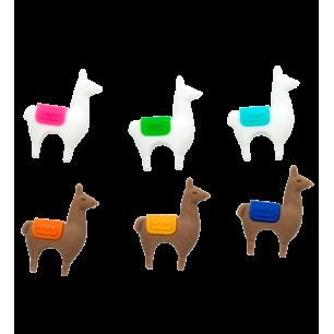6er-Set Glasmarkierer - Happy Markers - Lama