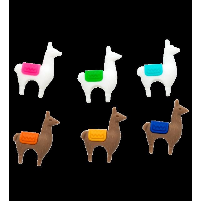 6er-Set Glasmarkierer - Lama Llama