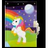 Princesse - carnet avec cadenas Licorne