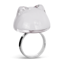 Chat Milk - Bague en verre