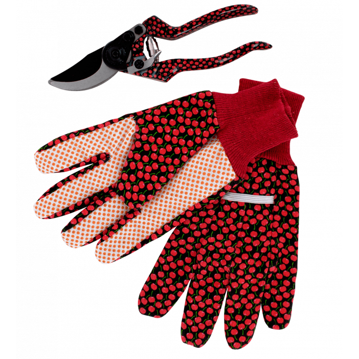 Gants et Sécateur - Back to Gardening Cherry