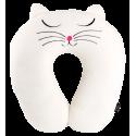 Cat My Neck - Coussin de voyage White Cat