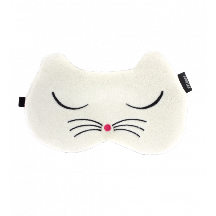masque de nuit cache yeux pour avion voyage cat my eyes white cat pylones. Black Bedroom Furniture Sets. Home Design Ideas