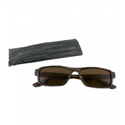 Sunglasses - Bois Rectangle - Dark brown