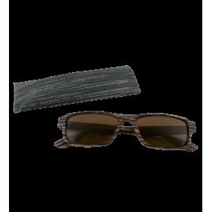 Corrective lenses - Bois Rectangle - Dark brown