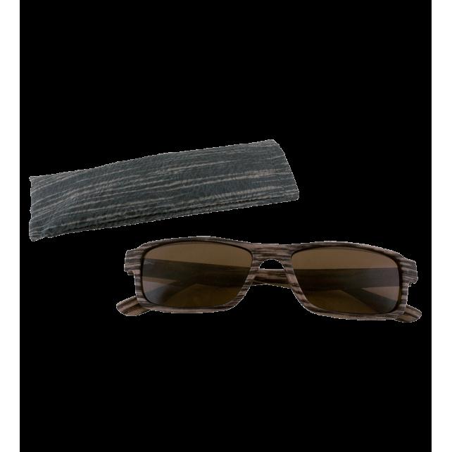 Sunglasses - Bois Rectangle - Dark brown