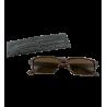 Korrekturbrille - Bois Rectangle - Dunkelbraun