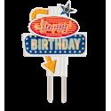 Décoration lumineuse pour gâteaux - Happy Birthday