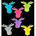 Set de 6 marqueurs de verre - Happy Markers Animaux
