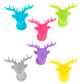 Set of 6 glass markers - Lama