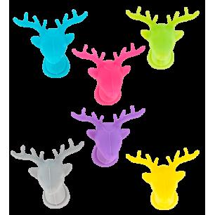 Set di 6 segnabicchieri - Happy Markers - Cervo