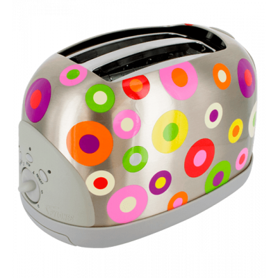 Toaster UK plug - Toast'in - Silver Spots