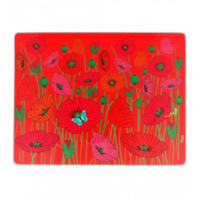 Chopping board - Commy - Coquelicots