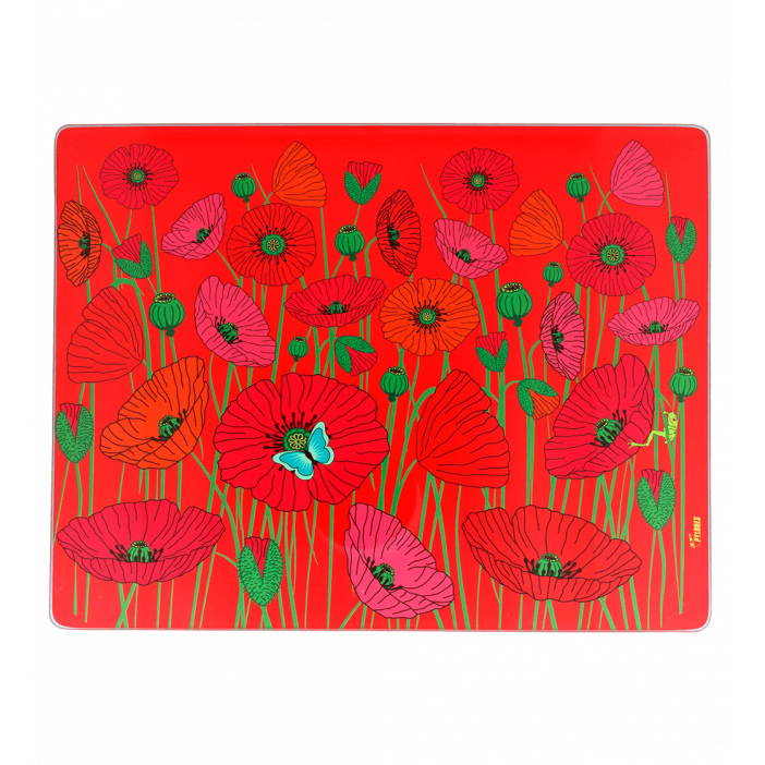 Master piece - Chopping board Coquelicots