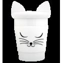 Trophy Mug - Mug et couvercle Gatto bianco