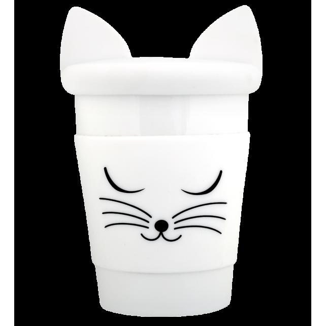 Trophy Mug - Mug et couvercle Chat blanc