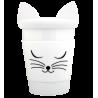 Trophy Mug - Mug et couvercle Weiße Katze