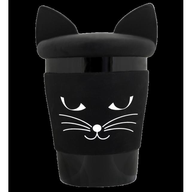 Trophy Mug - Mug et couvercle Black cat