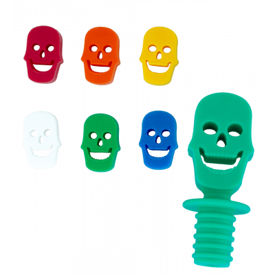 Glass markers and stopper - Skeleton