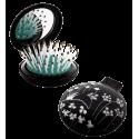 Haarbürste mit Spiegel 2 in 1 - Lady Retro Owl