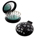 Haarbürste mit Spiegel 2 in 1 - Lady Retro Petite Parisienne